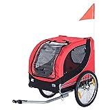HOMCOM PawHut Remolque Bicicleta Perros Mascota 1 Bandera 6 Reflectores Remolque...