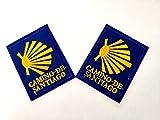PARCHES CAMINO DE SANTIAGO BORDADO PARA PLANCHAR O COSER RECTANGULO 4.5X5.7CM, 2...