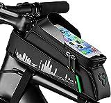 Aolfay Bolsa Bicicleta Cuadro Impermeable, Bolsa Manillar Sillin MTB con...