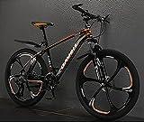 HAOANGZHE Bicicleta de montaña 26 Pulgadas, 24/24/30 Velocidad, Marco...