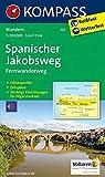 Mapa del Camino de Santiago.133. Spanischer Jakobsweg. 1:100.000. Kompass.:...