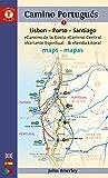 Mapa Guía del Camino Portugués. Lisbon-Porto-Santiago. Camino Guides. (Maps)...