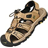 Lvptsh Sandalias Hombre Zapatillas de Senderismo Transpirable Peso Ligero Cuero...