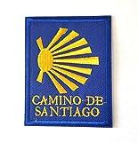 PARCHES CAMINO DE SANTIAGO BORDADO PARA PLANCHAR O COSER RECTANGULO 6.2X7.9CM, 1...