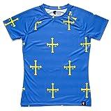 HOOPOE Camiseta Asturias Mujer, Manga Corta, Running, Gimnasio #PatriaQuerida...