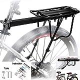 MAIKEHIGH Ajustable Carrier Trasera para Bicicleta portaequipajes Bicicleta...
