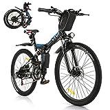 Vivi Bicicleta Eléctrica Plegable, 350 W Motor para Bicicleta De Montaña...