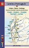 Mapa-Guía Camino portugués (Lisboa a Santiago). Edición multilingüe. Camino...
