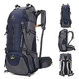 Mochila de senderismo de 50l, mochila de montañismo de 60 l,con cubierta de...