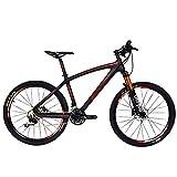 Bicicleta de montaña Beiou® con suspensión delantera y sistema Shimano M610...