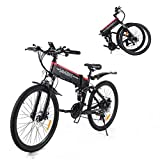 SAMEBIKE Bicicleta de Montaña Eléctrica Plegable de 26 Pulgadas, Bicicletas...