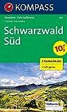 Kompass WK887 Schwarzwald Süd: 2-delige Wandelkaart 1:50 000